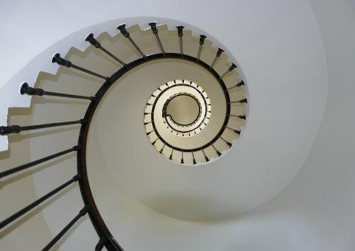 黄金比率で作られた階段
